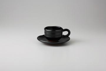 【まとめ買い10個セット品】和食器 黒柚子ゆったり コーヒーC/S 35Y481-03 まごころ第35集 【キャンセル/返品不可】