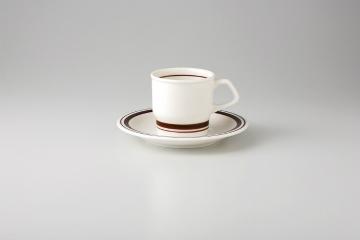【まとめ買い10個セット品】和食器 茶Wライン コーヒーC/S 35Y485-09 まごころ第35集 【キャンセル/返品不可】