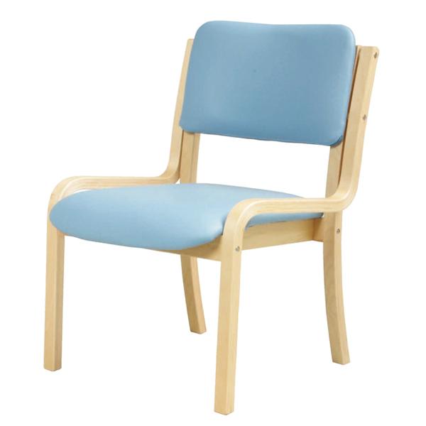 ダイニングチェア〔肘なし〕〔ブルー〕 DC-430P〔BL〕【 椅子 洋風 イス チェア パーソナルチェア 1人掛け 木製 】【 メーカー直送/後払い決済不可 】
