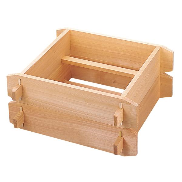 木製 角セイロ 関東型 (サワラ材) 45cm