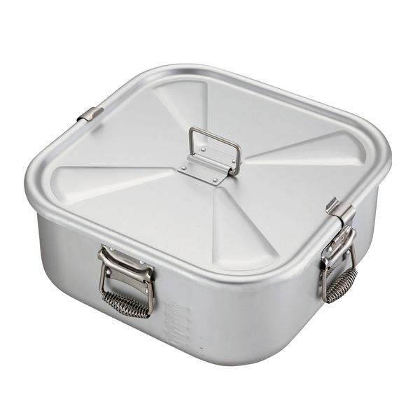 アルミ ガス炊飯鍋 角 蓋付 9.0l(5.0升)