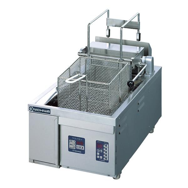 電気フライヤー 卓上タイプ 13l(オートリフト付) TEF-13-4-1LN