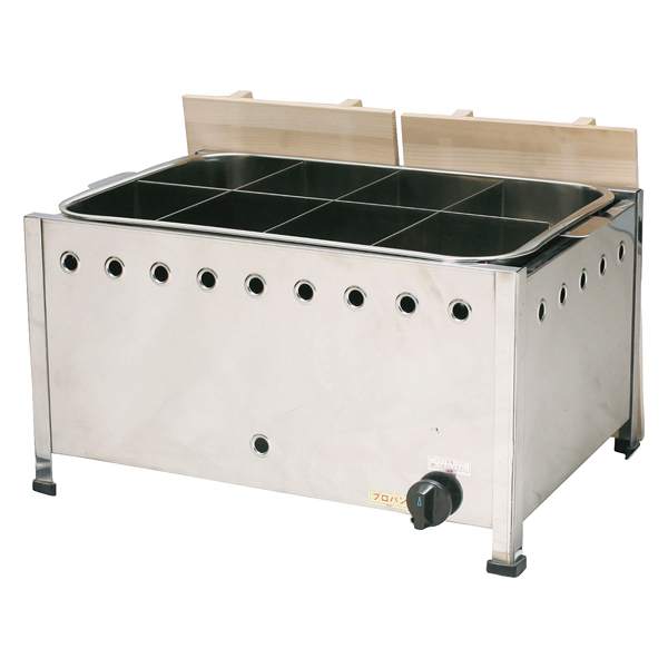 kisi-12-0372-0504 当店は最高な サービスを提供します 直火式おでん鍋 自動点火 5☆大好評 立消え防止機能付 13A OA45SDX