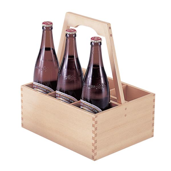 白木 ビール運び (6本用)