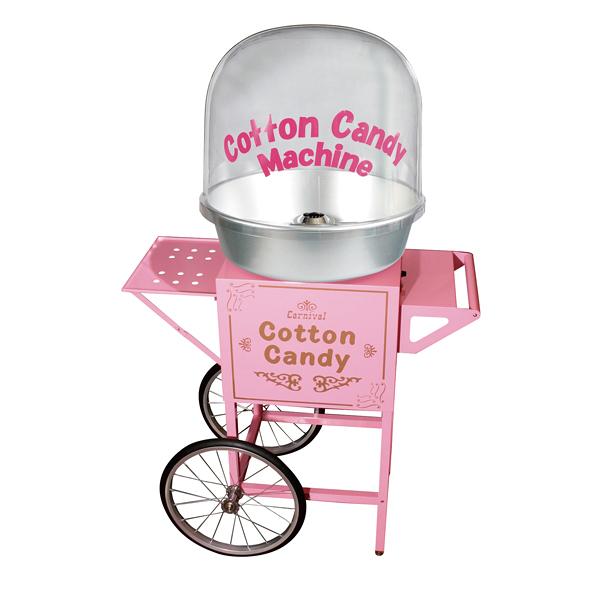 全自動わた菓子機 CA-7型 バブルカバー付 2輪カート付