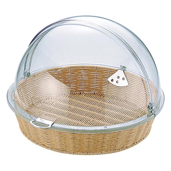 ポリカハーフトップカバー(丸)付 ベーカリーバスケット BB-413-IV