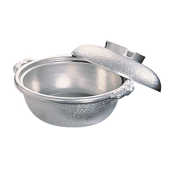 アルミ電磁用 土鍋風鍋(白仕上) 27cm