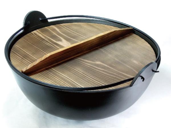 五進 アルミ ジャンボ 田舎鍋 (内面シルクウェア加工) 36cm