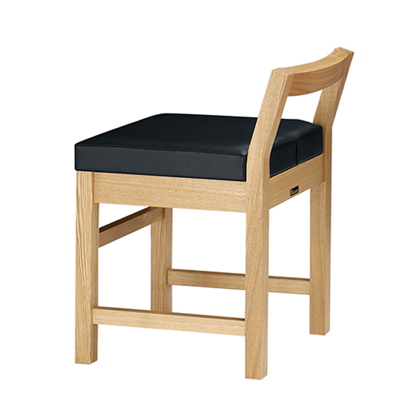 和風椅子 隼人N ナチュラルクリア 1084-1692(赤レザー)