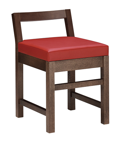 和風椅子 隼人D ダークブラウン 1184-1691(茶レザー)