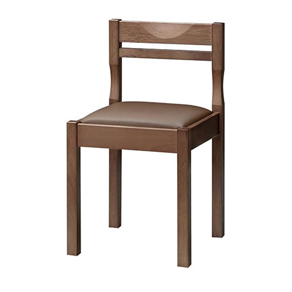 和風椅子 関羽D ダークブラウン 1206-1899(黒レザー)