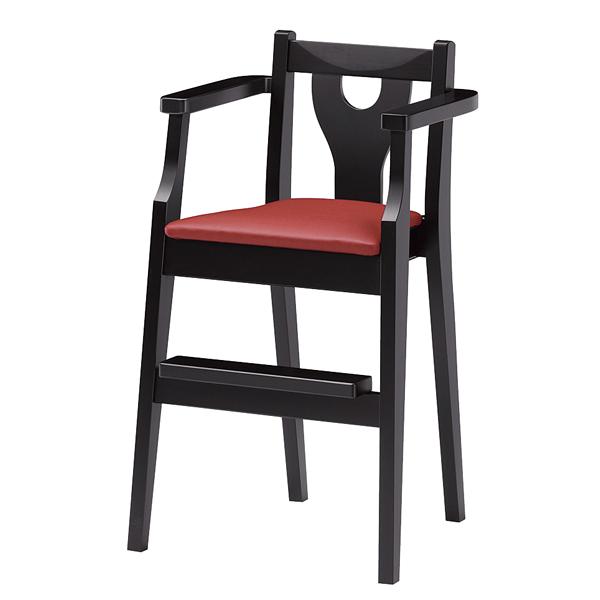 ジュニア椅子 イルカB ブラック 1344-1766(シート:赤)
