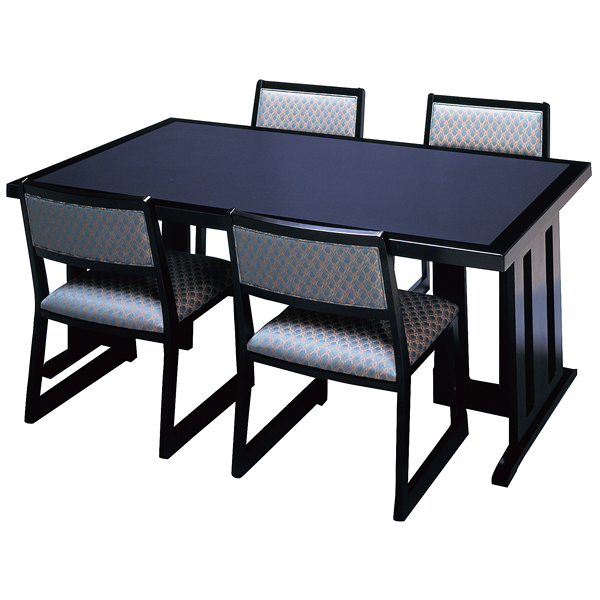 新の皇帝 高さ可変テーブル 4人用 乾漆メラミン 黒