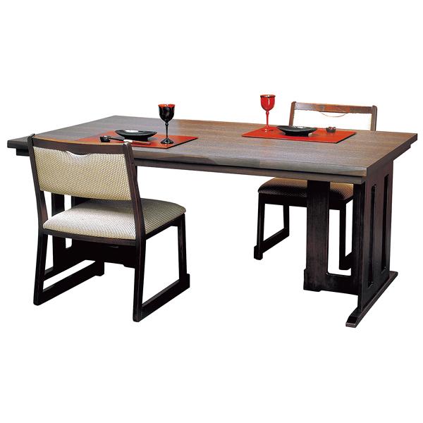 新の皇帝 高さ可変テーブル 4人用 古木調 メラミン板