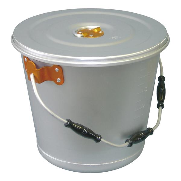 アルマイト色別食缶 硫酸シルバー 14l(橙)