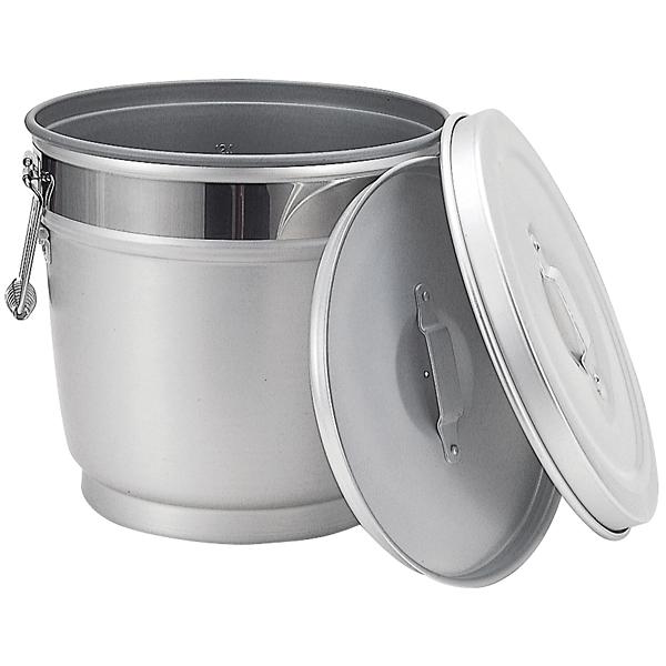 アルミ 段付二重保温食缶 中蓋式 B型(内側ハードコート) AWN-14B
