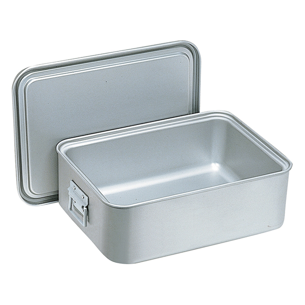 アルマイト 角型二重米飯缶(蓋付) 264-D