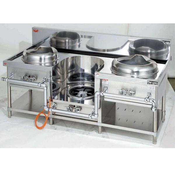 マルゼン ガス式スタンダードタイプ中華レンジ 3口レンジ〔MRS-103C〕 【 厨房機器 】 【 メーカー直送/後払い決済不可 】