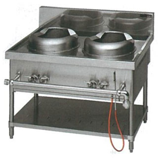 マルゼン ガス式スタンダードタイプ中華レンジ 2口レンジ〔MRS-112C〕 【 厨房機器 】 【 メーカー直送/代引不可 】