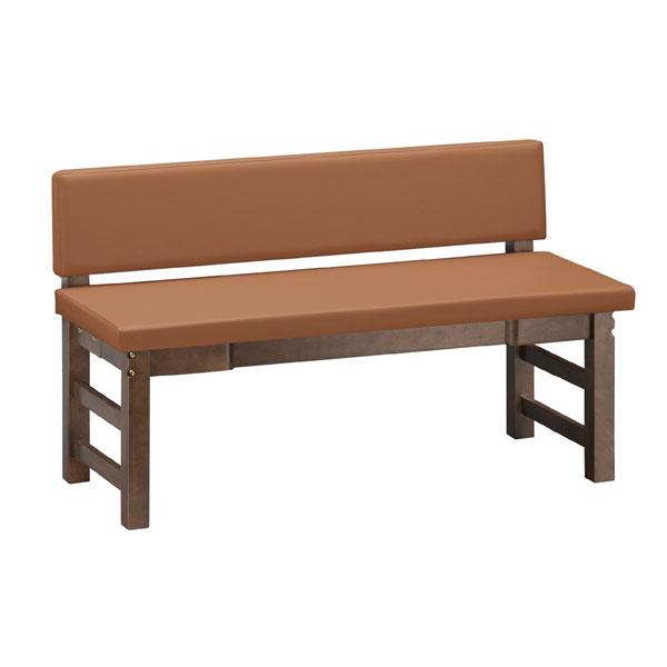 出石D長椅子 背付 間口/1200mm | 張地:Aランクレザー ゼラコート 6688 シンコール 【 メーカー直送/後払い決済不可 】