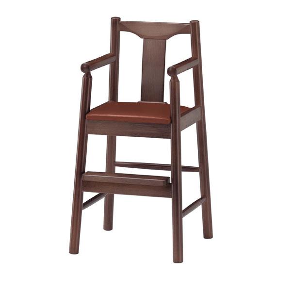 パンダD椅子 茶レザー   張地:ニュートップ 6369 シンコール 【 メーカー直送/後払い決済不可 】