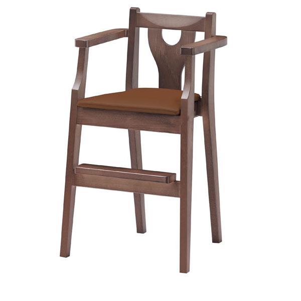 イルカD椅子 茶レザー   張地:オールマイティー 6439 シンコール 【 メーカー直送/後払い決済不可 】