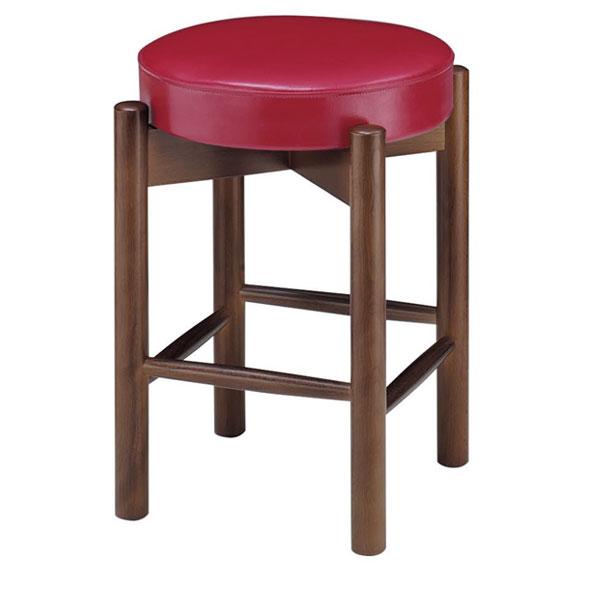 三笠D椅子 赤レザー | 張地:ニュートップ 6383 シンコール 【メーカー直送品&代金引換決済不可商品】