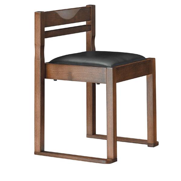 有田D椅子 黒レザー | 張地:クレンズII 6291 シンコール 【 メーカー直送/後払い決済不可 】