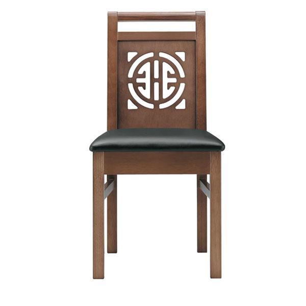 周荘D椅子 黒レザー | 張地:オールマイティー 6416 シンコール 【メーカー直送品&代金引換決済不可商品】