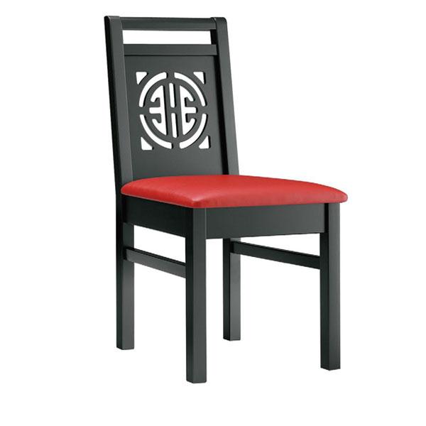 周荘B椅子 赤レザー | 張地:オールマイティー 6467 シンコール 【メーカー直送品&代金引換決済不可商品】