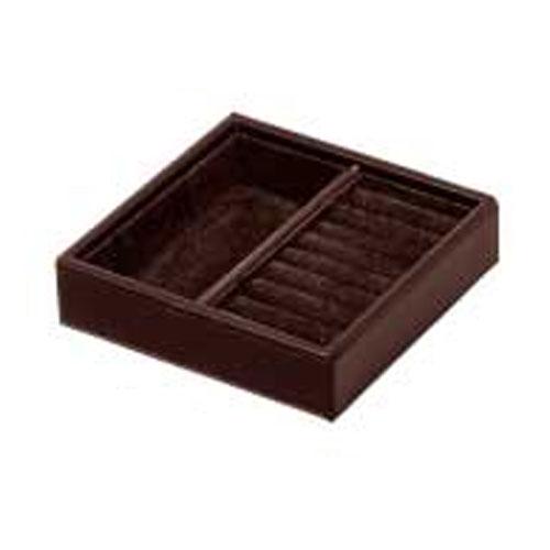 【まとめ買い10個セット品】シンビ ジュエリーBOX(ジュエリーボックス) JB-101 茶