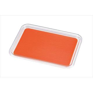 【まとめ買い10個セット品】クリア マジックトレー 角型 16インチ(特大)オレンジ