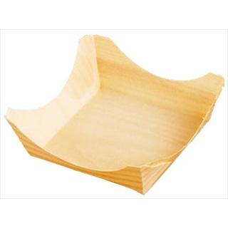 【まとめ買い10個セット品】経木容器 角型[100枚入] 23902 中