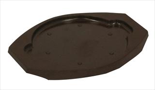 【まとめ買い10個セット品】トキワ 樹脂製台ステーキ皿 丸型 樹脂製台のみ【人気ステーキプレート】