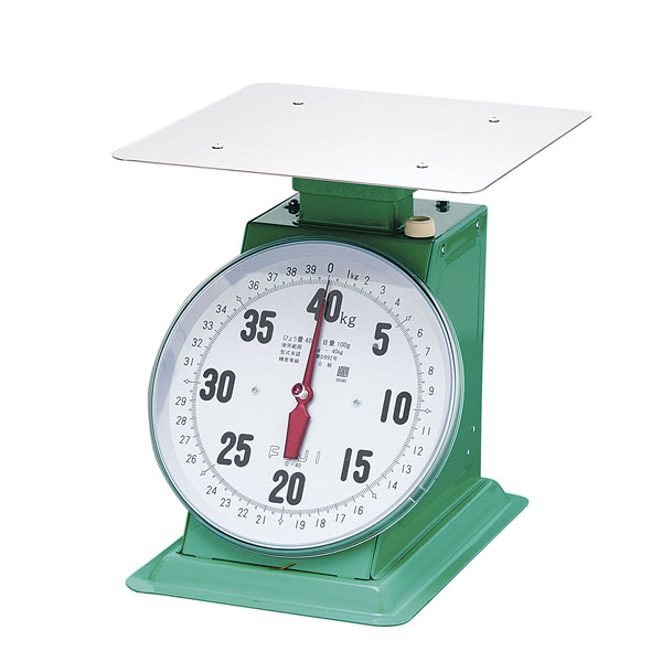 フジ 上皿自動ハカリ デカO型 40kg (平皿付)【 業務用秤 アナログ 】