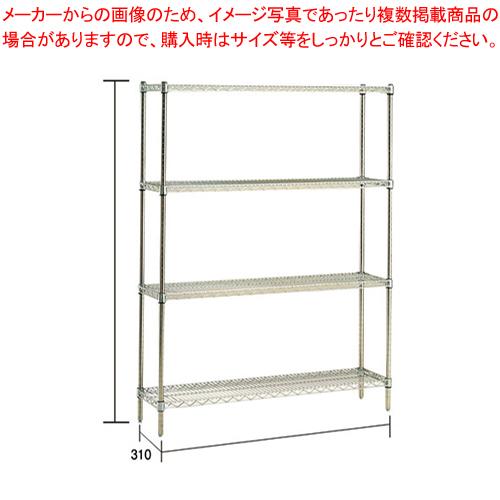ステンレス エレクターシェルフ SSS 1220×PS2200×4段【メーカー直送/代引不可】