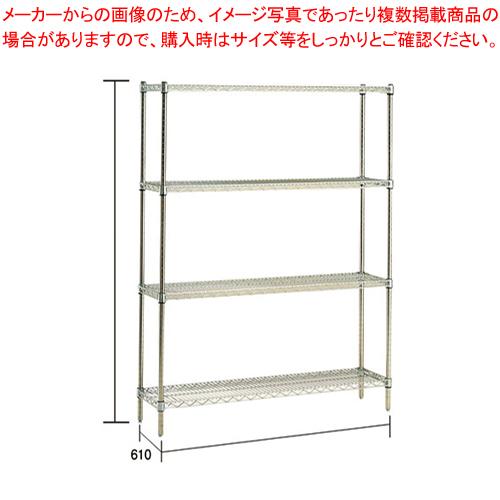 ステンレス エレクターシェルフ SLS 610×PS1390×4段【メーカー直送/代引不可】