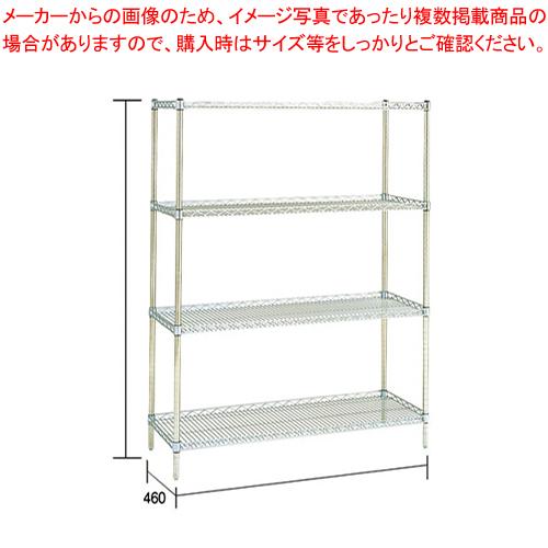 サイドアップエレクターシェルフセット MU1220×P1390×4段【メーカー直送/代引不可】