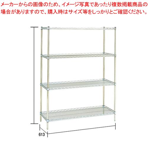 サイドアップエレクターシェルフセット LU1220×P2200×4段【メーカー直送/代引不可】