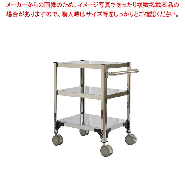 両面棚ワゴンキャスター付 F6X-A【 サービスワゴン 食品運搬台車 】