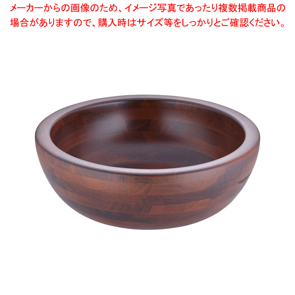 木製 惣菜くり鉢 深型 大 44282【器具 道具 小物 作業 調理 料理 】
