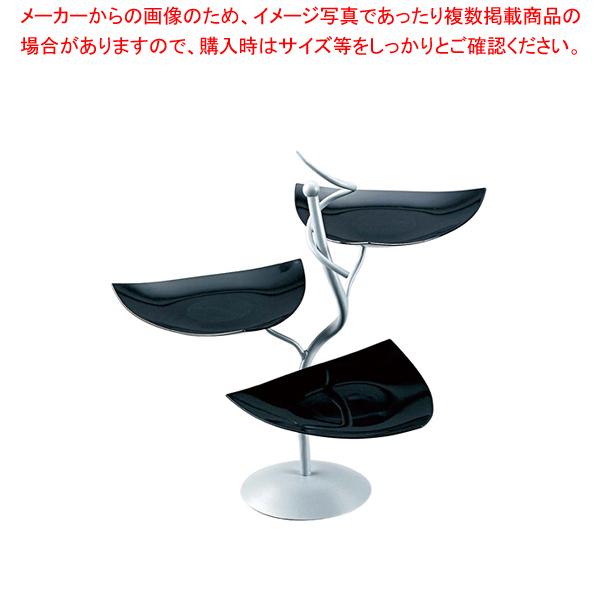 ML アイアンシェイプサービングスタンド Cod.401.02ブラック【食器 トレー トレイ 盆 飾り台 ショープレート 】