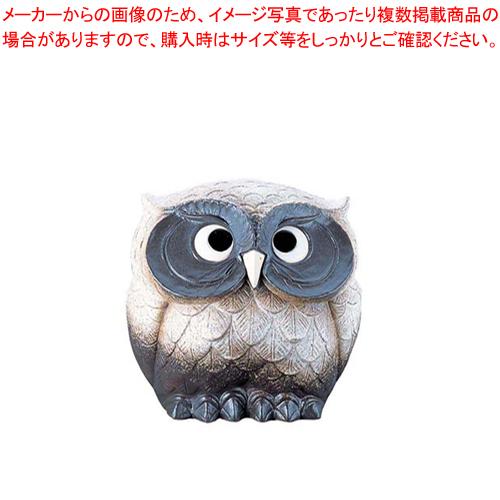 ふくろう粉引風(陶器) 13号 SV35-1【 店舗備品 インテリア装飾品 】