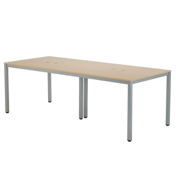 OAミーティングテーブル W2100 木目