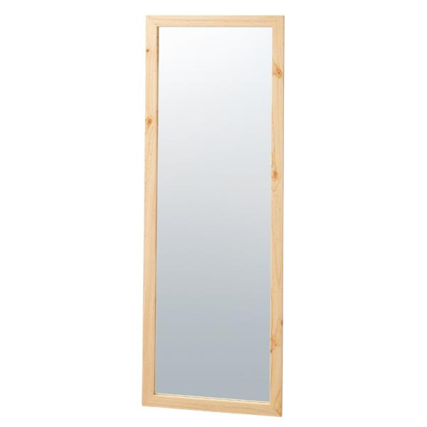 木製ワイド立掛ミラー(鏡厚5mm)ナチュラル