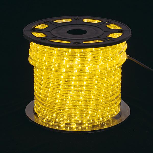 新360°発光ロープライトII イエロー
