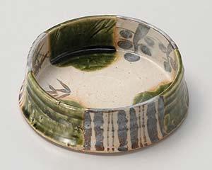 【まとめ買い10個セット品】和食器 イ020-016 玉山織部丸鉢 【キャンセル/返品不可】
