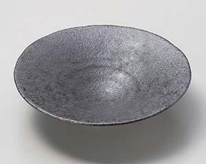 【まとめ買い10個セット品】和食器 イ032-167 イブシ黒 平鉢【キャンセル/返品不可】