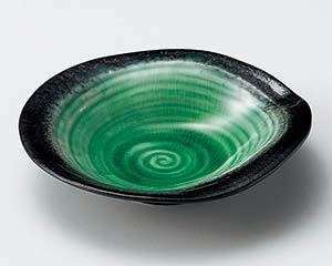 【まとめ買い10個セット品】和食器 タ035-047 エメラルドグリーン5.5浅鉢【キャンセル/返品不可】