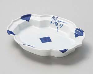 【まとめ買い10個セット品】和食器 ウ040-016 文字市松木甲皿 【キャンセル/返品不可】